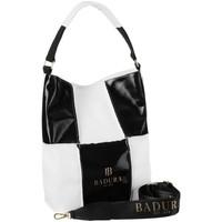 Taschen Damen Handtasche Badura 105980 Weiß, Schwarz