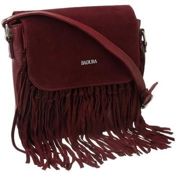 Taschen Damen Handtasche Badura 98290 Dunkelrot