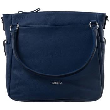 Taschen Damen Handtasche Badura 84040 Dunkelblau