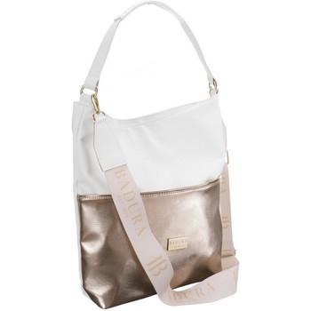 Taschen Damen Umhängetaschen Badura 103950 Weiß, Golden