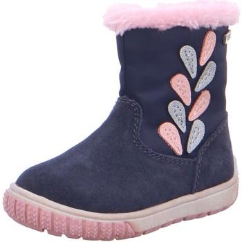 Schuhe Mädchen Babyschuhe Lurchi Maedchen Julia-Tex Lauflernboot navy 33-14815-22 blau