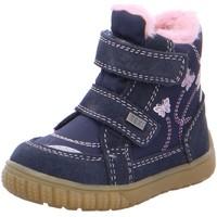 Schuhe Mädchen Babyschuhe Lurchi Klettstiefel Jasmina Tex warm Navy 33-14813-22 blau