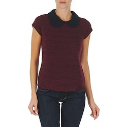 Kleidung Damen Pullover Manoush TOP CROCHET CŒUR Bordeaux