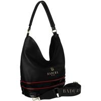 Taschen Damen Handtasche Badura 116210 Schwarz