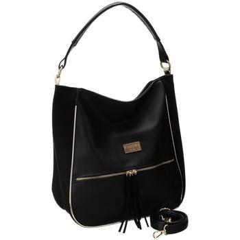 Taschen Damen Handtasche Badura 114720 Schwarz