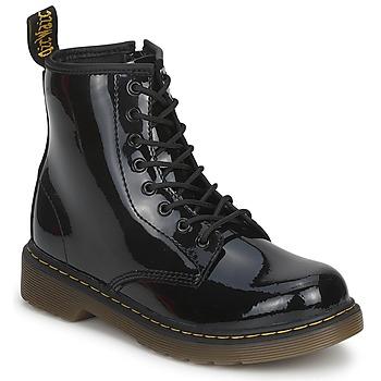 Schuhe Kinder Boots Dr Martens DELANEY Schwarz