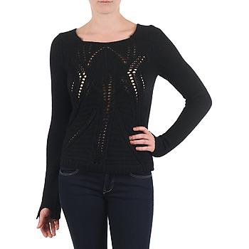Kleidung Damen Pullover Antik Batik LACE Schwarz