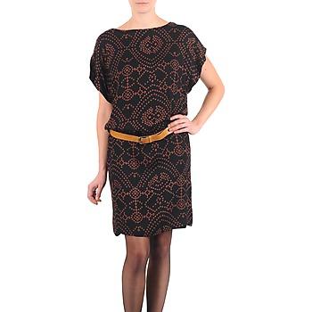 Kleidung Damen Kurze Kleider Antik Batik QUINN Schwarz