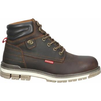 Schuhe Herren Boots Dockers Stiefelette Schoko