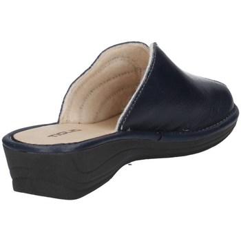Schuhe Damen Pantoletten / Clogs Tiglio 1609 Blau