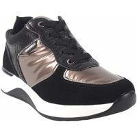 Schuhe Damen Sneaker Low D'angela Zapato señora  20166 dbd negro Silbern