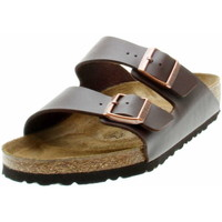 Schuhe Herren Pantoletten / Clogs Birkenstock Classic 051101 Unisex Tieffussbett-Pantolette Arizona Dunkelbraun Braun