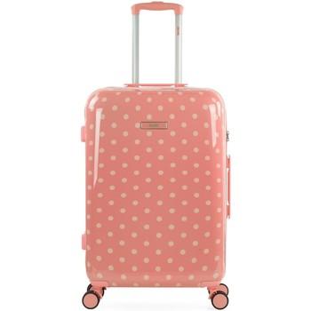 Taschen Damen Hartschalenkoffer Skpat Polka Dots Coral Rot