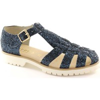 Sandalen / Sandaletten Panema 2500 blue glitter woman shoes Sandalen made in Italy