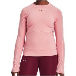 Kleidung Damen Langarmshirts Under Armour Sport Rush ColdGear LS Top Women 1365721-663 rosa