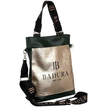 Taschen Damen Handtasche Badura 131100 Schwarz, Golden