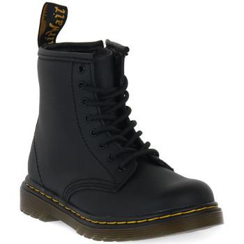 Schuhe Kinder Boots Dr Martens 1460 BLACK SOFTY T Nero