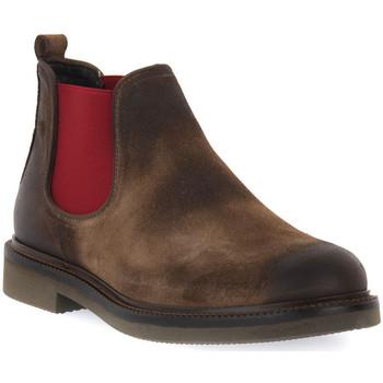 Schuhe Herren Boots Exton ANTICATO STEPPA Marrone