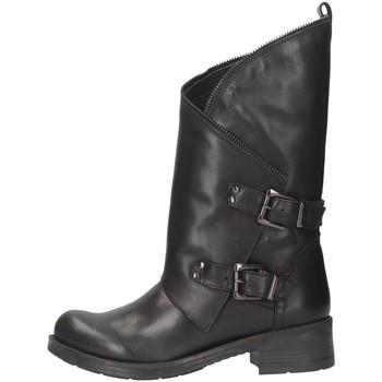 Schuhe Damen Low Boots Pregunta BA535 Biker Frau Schwarz