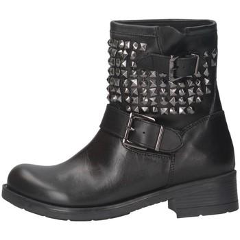 Schuhe Damen Low Boots Pregunta BA534 Biker Frau Schwarz