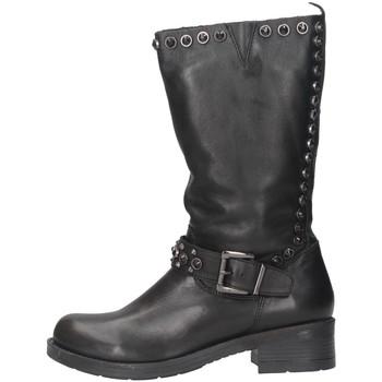 Schuhe Damen Boots Pregunta BA538 Biker Frau Schwarz