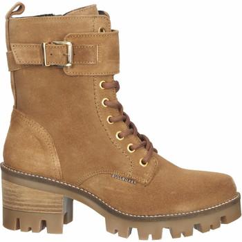 Schuhe Damen Low Boots Bullboxer Stiefelette Cognac
