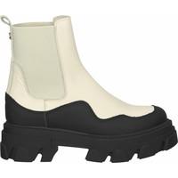 Schuhe Damen Boots Steve Madden Stiefelette Schwarz/Beige