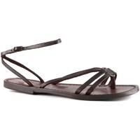 Schuhe Damen Sandalen / Sandaletten Gianluca - L'artigiano Del Cuoio 535 D MORO CUOIO Testa di Moro