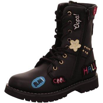 Schuhe Mädchen Stiefel Dockers by Gerli Schnuerstiefel 41SP701 schwarz