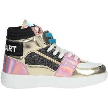 Schuhe Damen Sneaker High Shop Art SA80243 Weiss/Gold