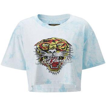 Kleidung Herren T-Shirts Ed Hardy - Los tigre grop top turquesa Blau