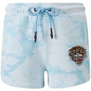 Kleidung Herren Shorts / Bermudas Ed Hardy - Los tigre runner short turquesa Blau