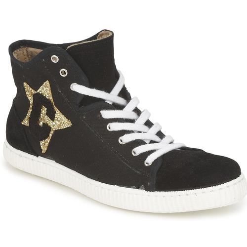 Schuhe Damen Sneaker High Chipie JAVENE DOUDOU Schwarz