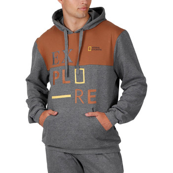 Kleidung Herren Sweatshirts Admas For Men Kapuzenpulli Explore National Geographic Admas Violett/oranget