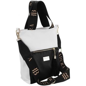 Taschen Damen Handtasche Badura 104020 Weiß, Schwarz