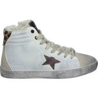 Schuhe Damen Sneaker High D'angela DEPORTIVAS  DAL20264 MODA JOVEN LEOPARDO Blanc