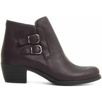 Schuhe Damen Low Boots Purapiel 72281 BROWN