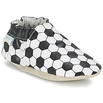 Schuhe Jungen Babyschuhe Robeez GOAL Schwarz / Weiss