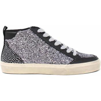 Schuhe Damen Sneaker High Manila Grace S643PU Schwarz