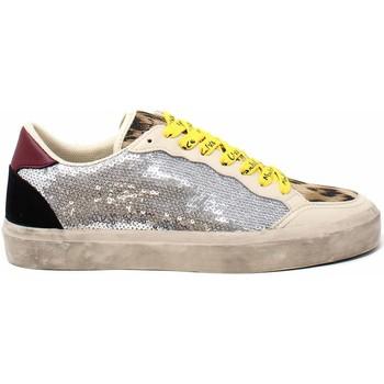 Schuhe Damen Sneaker Manila Grace S638PU Beige