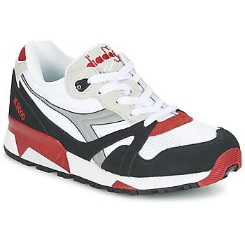 Schuhe Sneaker Low Diadora N9000  NYL Weiss / Schwarz / Rot