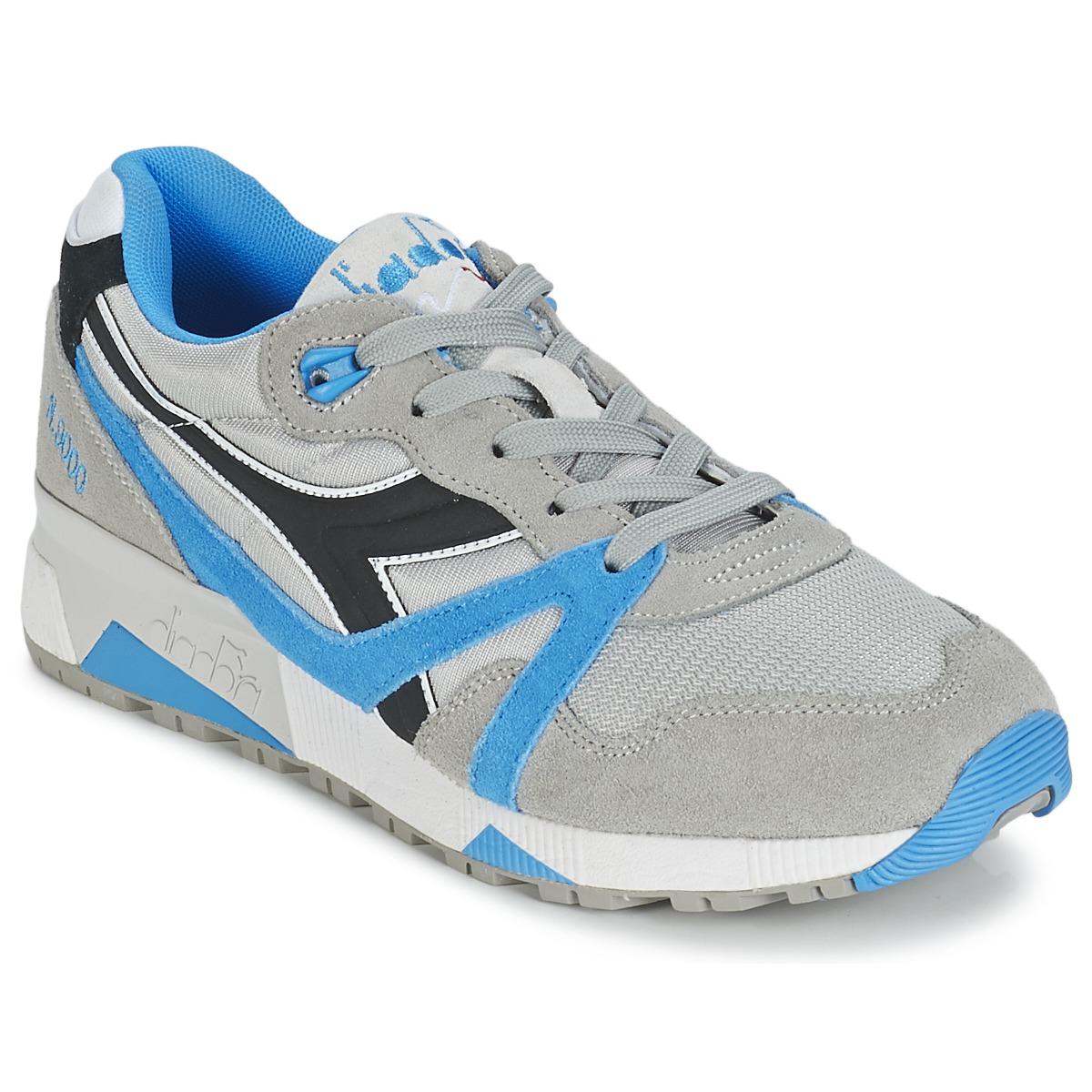 Diadora N9000  NYL Grau / Blau / Schwarz - Kostenloser Versand bei Spartoode ! - Schuhe Sneaker Low  62,50 €