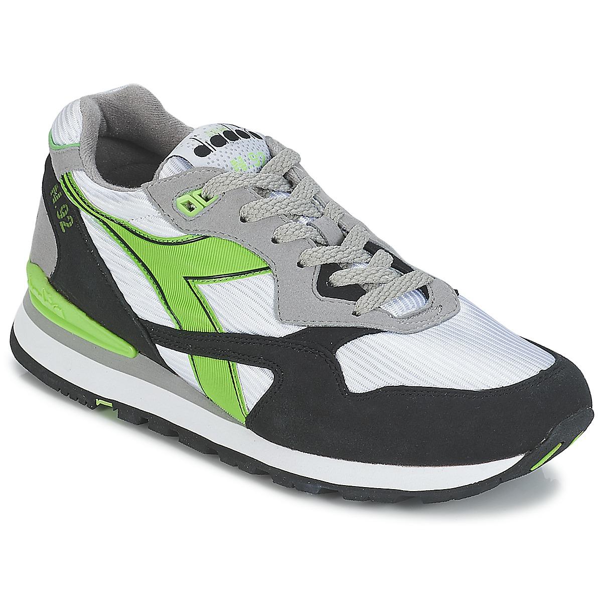 Diadora N-92 Weiss / Schwarz / Grün - Kostenloser Versand bei Spartoode ! - Schuhe Sneaker Low  42,50 €