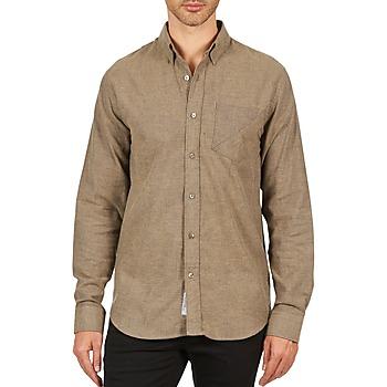 Kleidung Herren Langärmelige Hemden Kulte CHEMISE CLAY 101799 BEIGE Beige