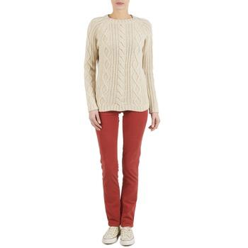 Kleidung Damen 5-Pocket-Hosen Kulte PANTALON PLANCHER 101819 ROUGE Rot