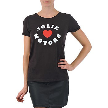 Kleidung Damen T-Shirts Kulte LOUISA JOLIEMOTOR 101954 NOIR Schwarz