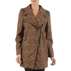 Kleidung Damen Mäntel Brigitte Bardot BB43110 Braun / Leopard