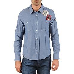 Kleidung Herren Langärmelige Hemden Mr Marcel NEBRASKA Blau