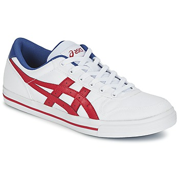 Schuhe Sneaker Low Asics AARON Weiss / Rot