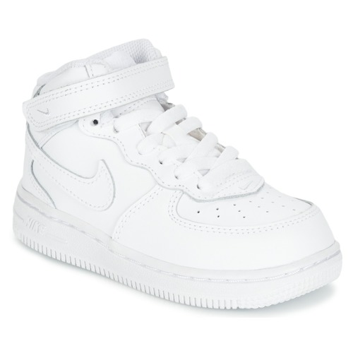 Schuhe Kinder Sneaker High Nike AIR FORCE 1 MID TODDLER Weiss
